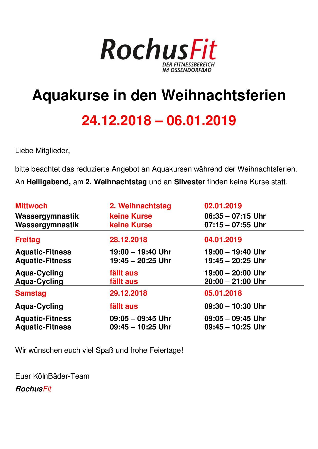 Wie Fällt Weihnachten 2019.Weihnachten 18 Kölnbäder Gmbh